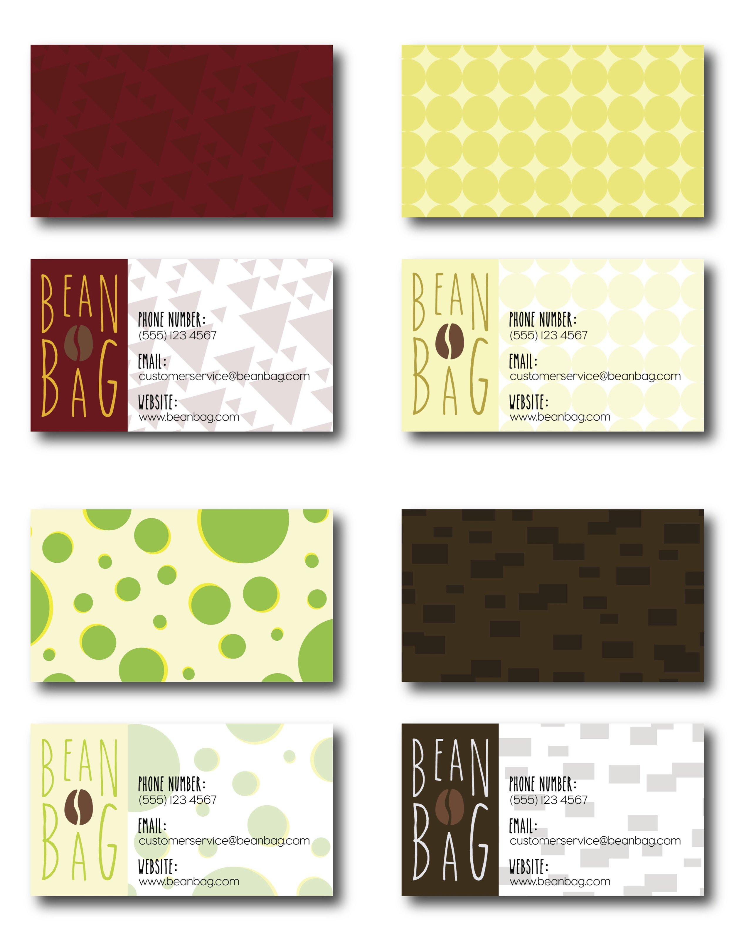 Bean Bag Business Cards