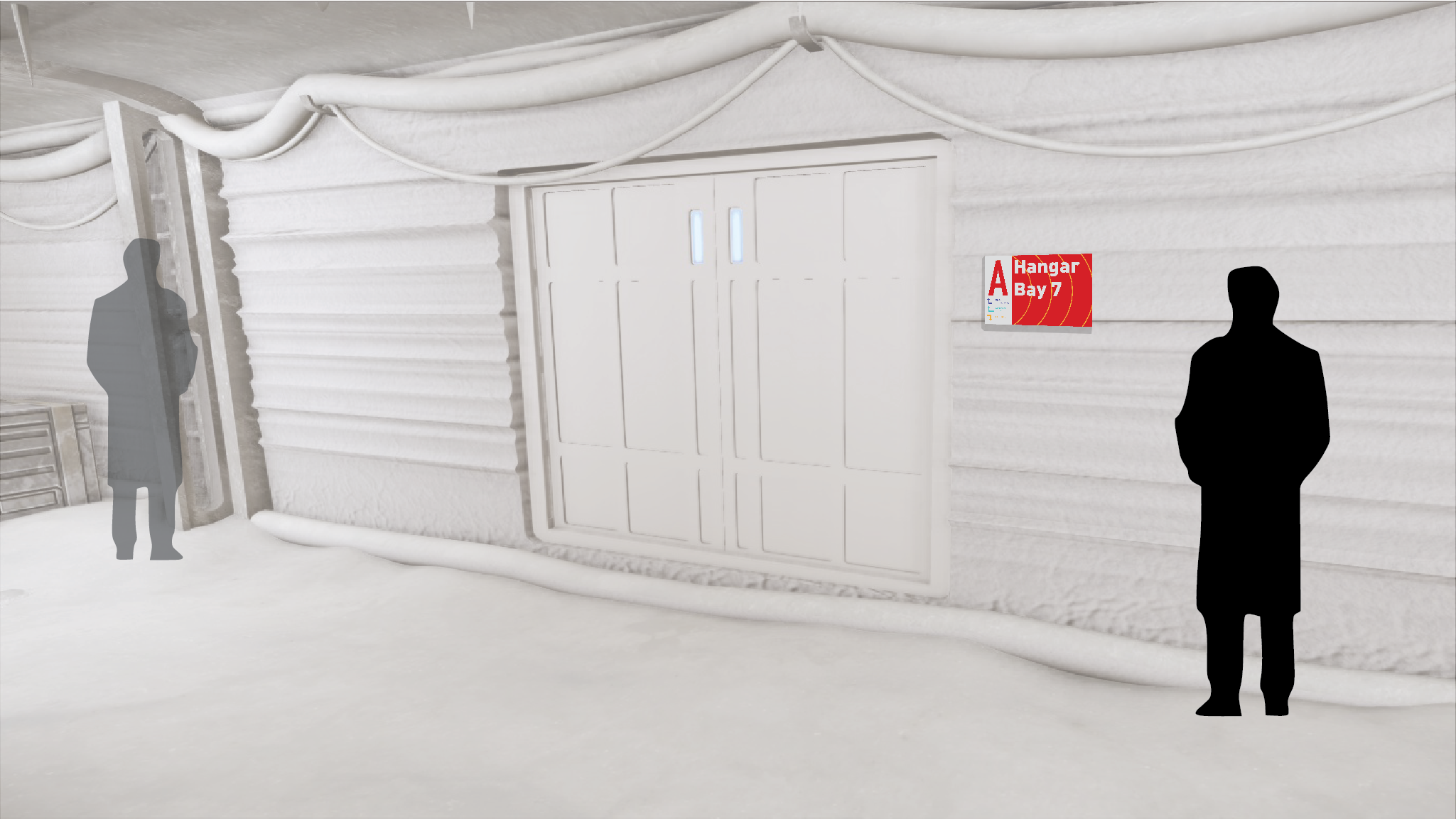 Echo Base Door Sign Context