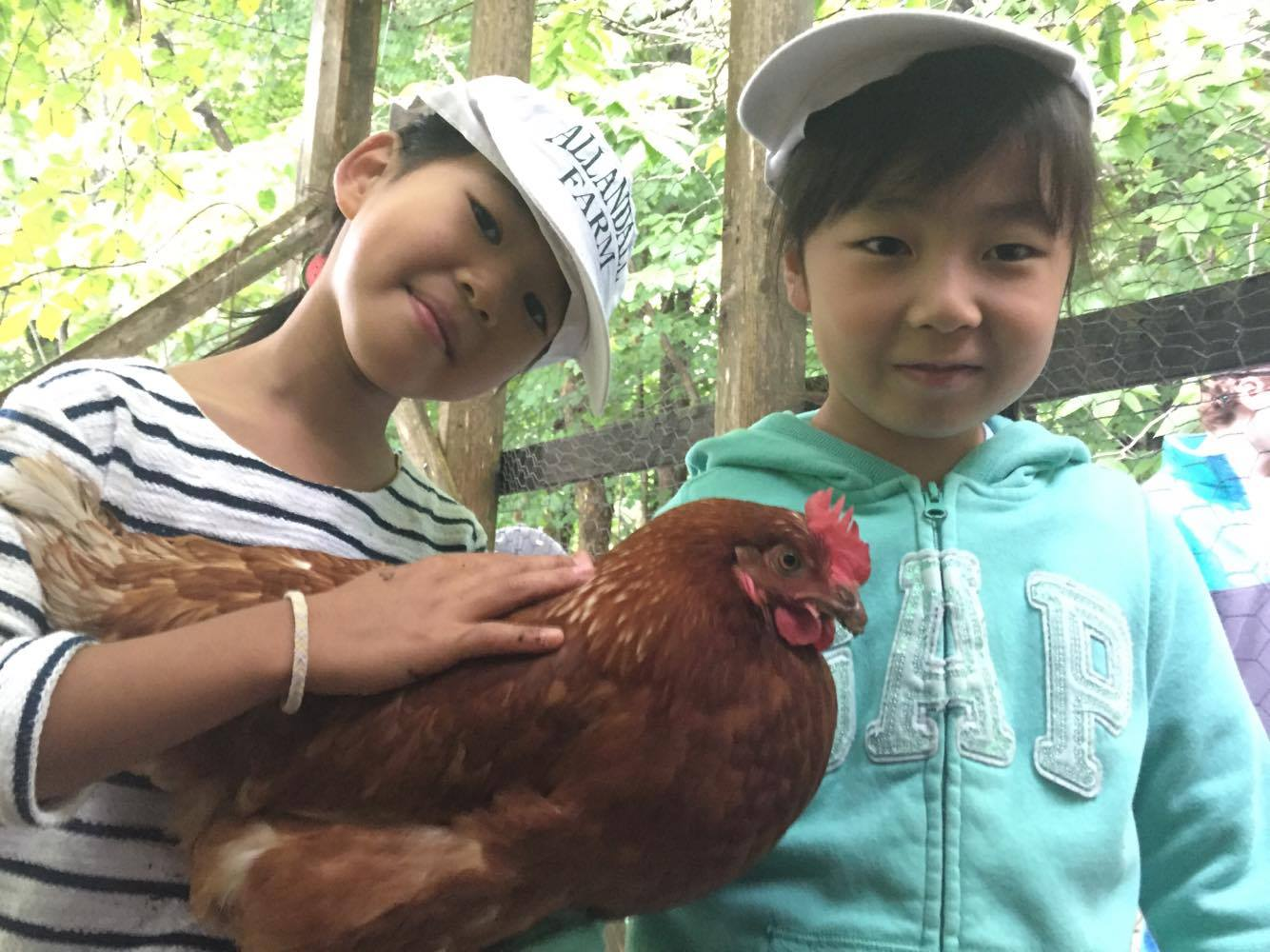 OSP girls with chickens.jpg