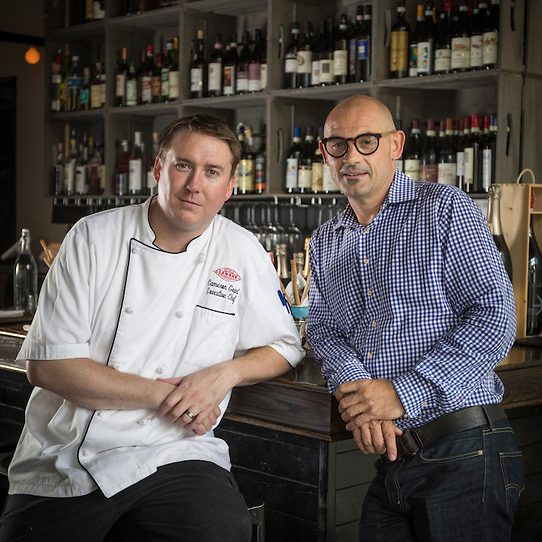 Chef Cameron Grant (Left) and Aldo Zaninotto (Right)