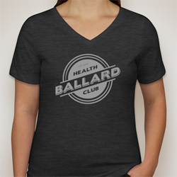 V-Neck T-shirt - Dark Grey Heather $20