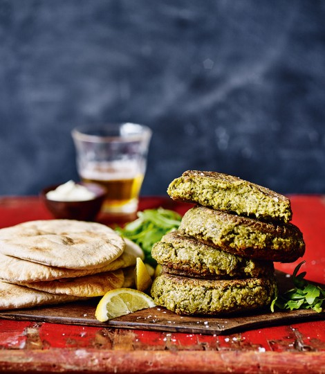 Pea, Herb and Chickpea Burger