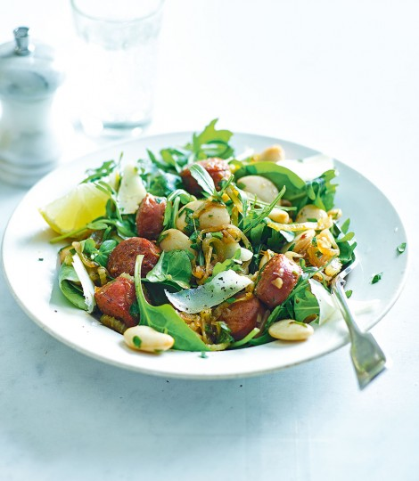 Chorizo and Butterbean Salad with Sherry Vinaigrette