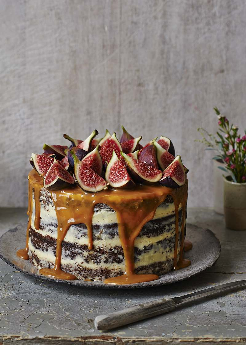 Ginger, Fig and Caramel Cake
