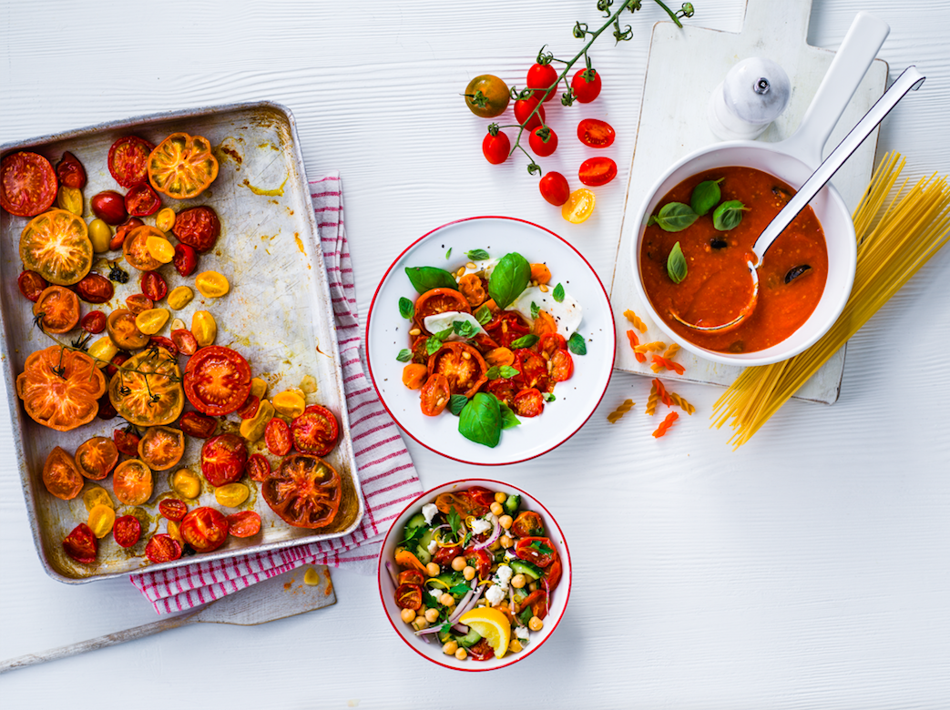 Three ways with roasted tomatoes