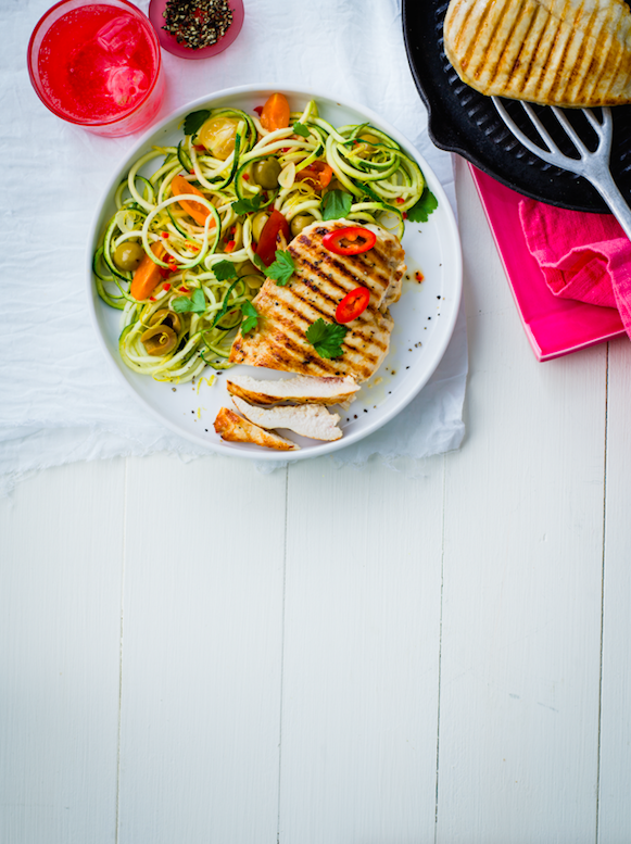 Chilli chicken courgetti