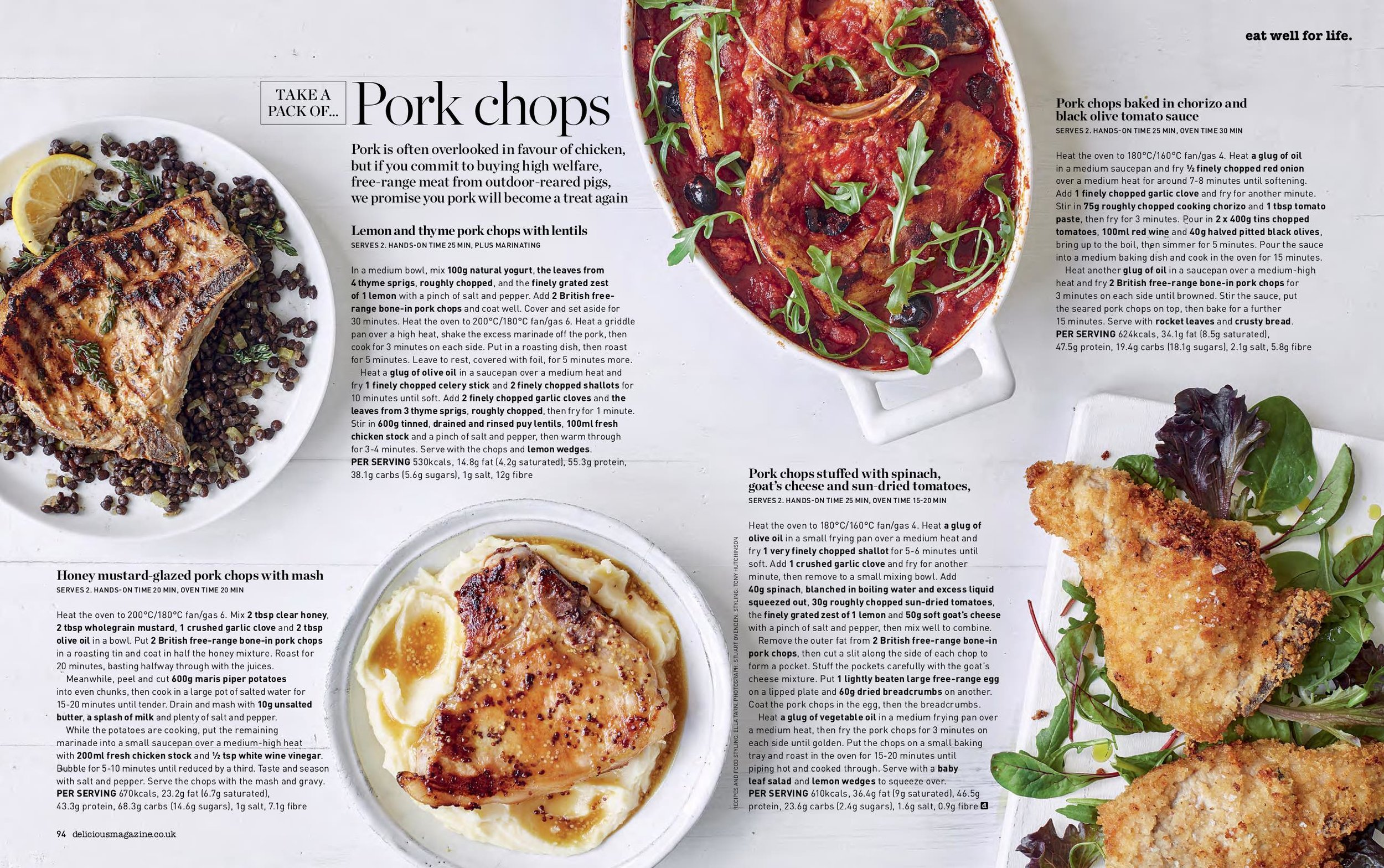 Feature written and food styled for Delicious Magazine