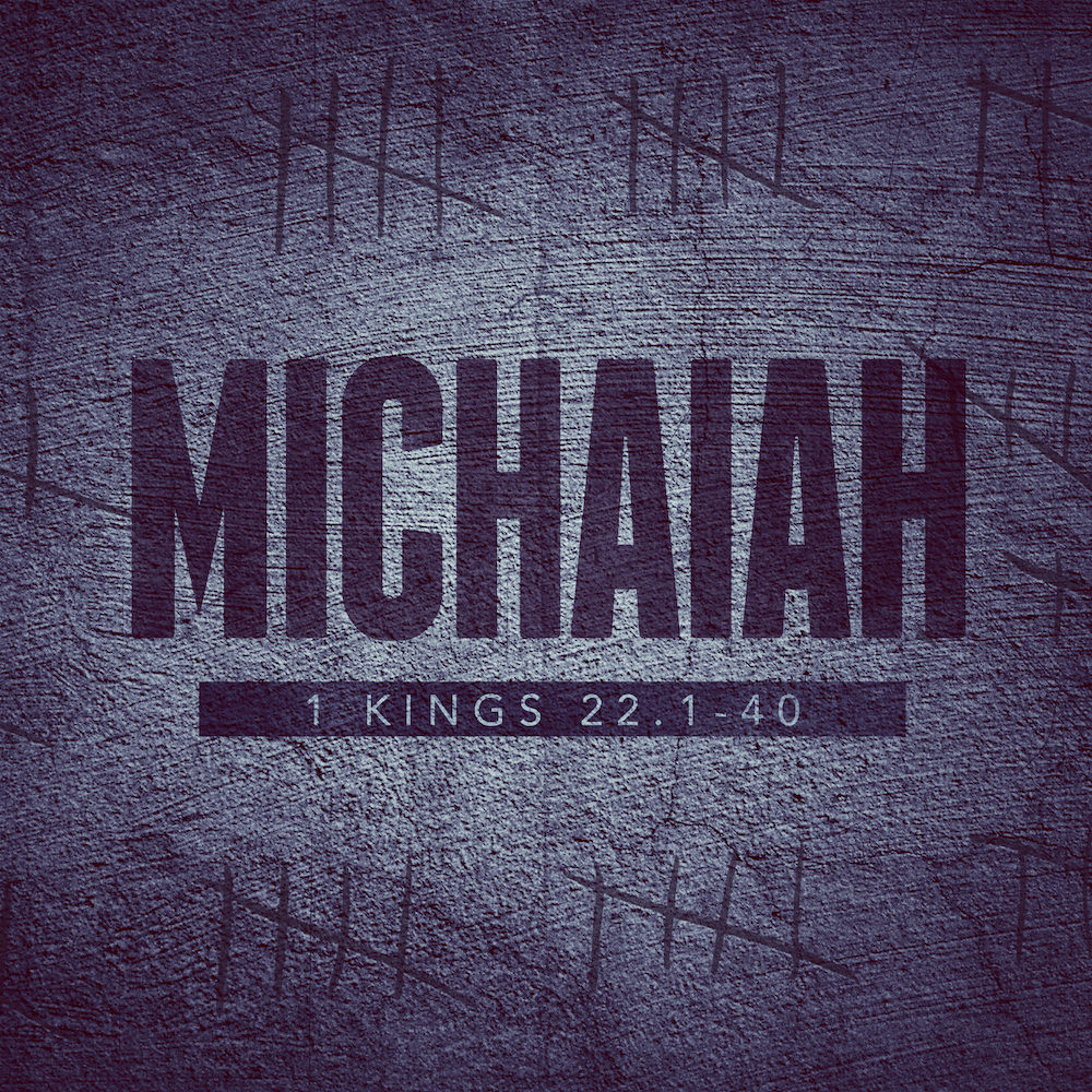 In one story… - …Micaiah proves himself every bit as brave and devoted to the Lord as his better known contemporary, Elijah. Micaiah was a champion for the Lord, willing to serve him at whatever cost—even if no one else would.(March 10, 2019 — Sunday PM Sermon)