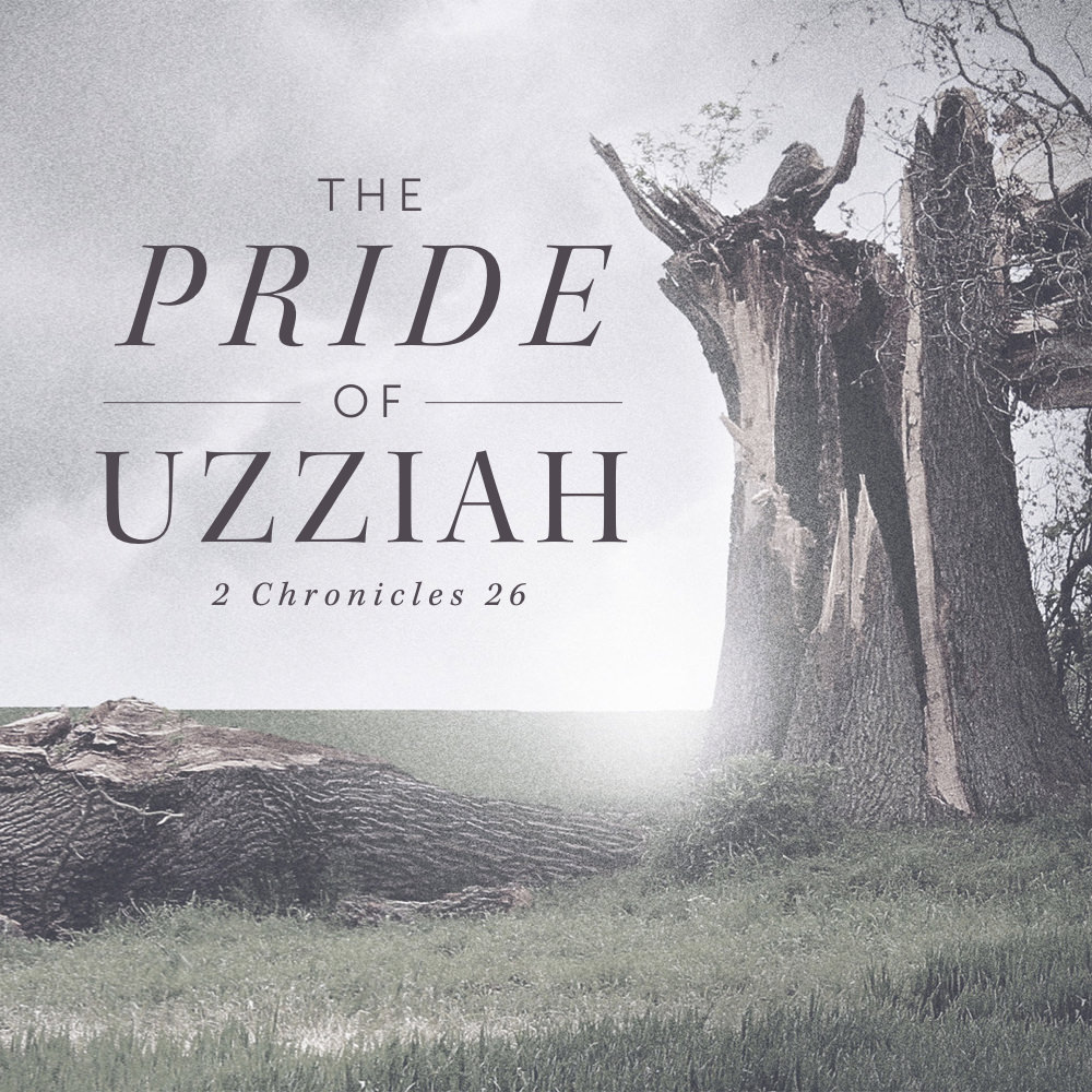 """Uzziah was sixteen… - …when he was made king in Judah. And for a while things went very well. Uzziah sought the Lord and the Lord blessed him with a rich and powerful country defended by an advanced, strong army. 2 Chronicles 26.15 says, """"his fame spread far, for he was marvelously helped, till he was strong.""""But as the very next verse records, """"when he was strong, he grew proud, to his destruction. For he was unfaithful to the Lord his God…""""This lesson looks at the seven steps of pride, and how we can avoid this deceptive, subtle and destructive sin.(March 24, 2019 — Sunday AM Sermon)"""