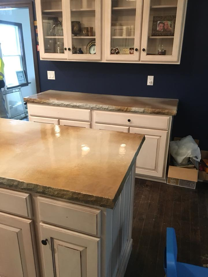 Counter Tops completed at a home in Leetonia
