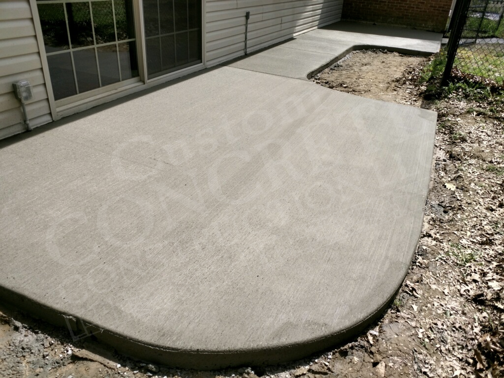 patio with standard brushed finish