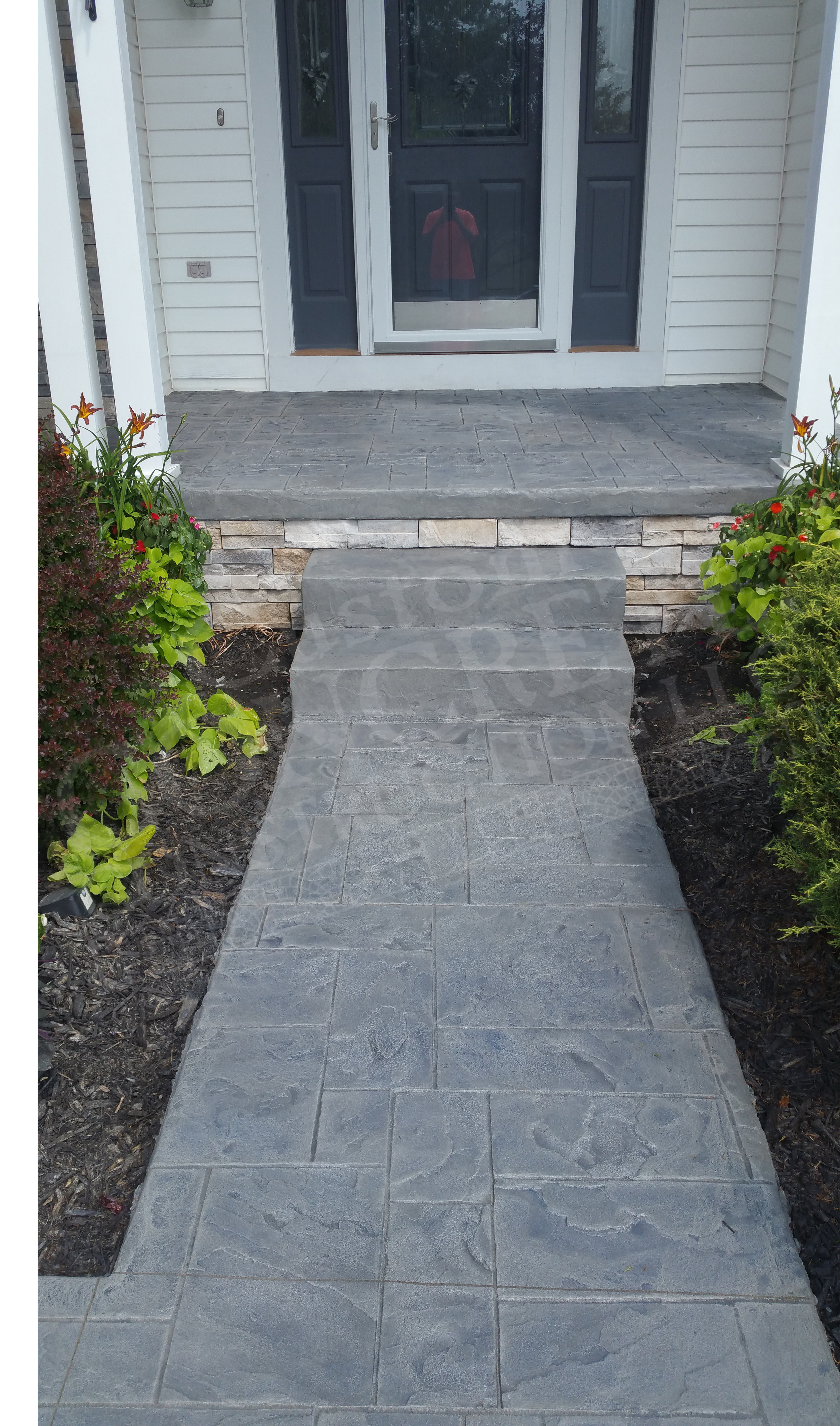 Stamped Overlay completed at a Youngstown home
