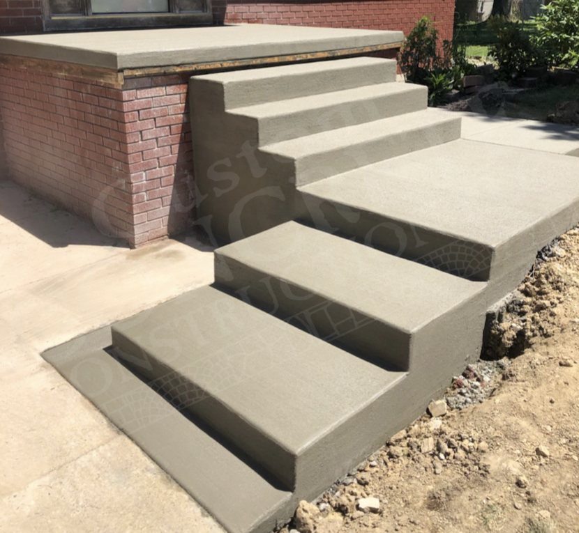 Porch, Sidewalk and Step Rebuild completed at a Youngstown home