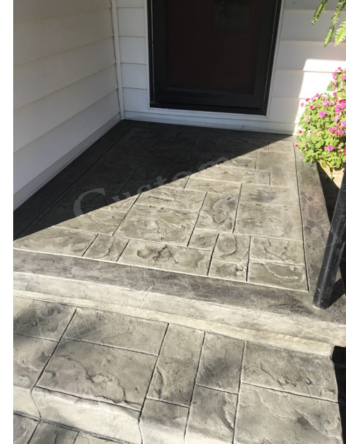 Stamped Porch and Step Overlay completed at Columbiana home