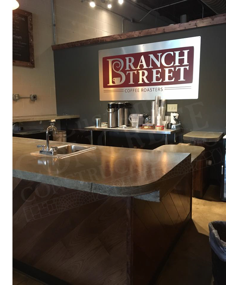 Counter Tops completed at Branch Street Coffee in Boardman