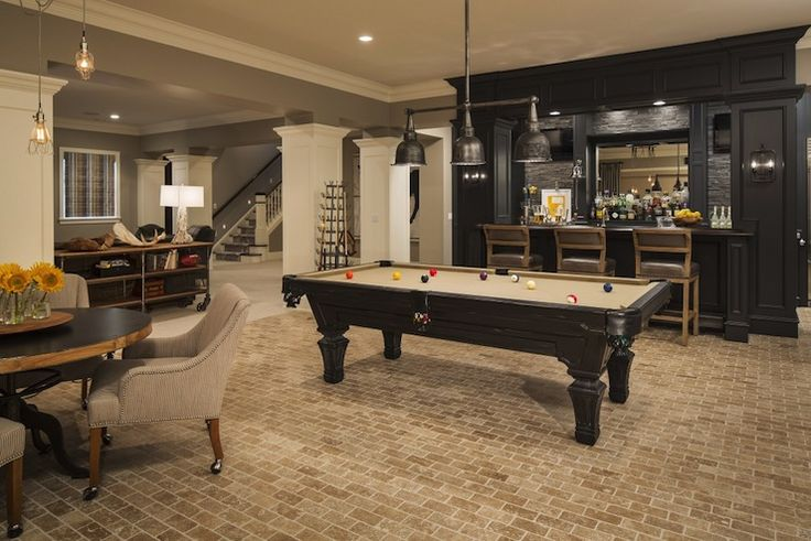 What basement remodel is complete without a wet bar for entertaining