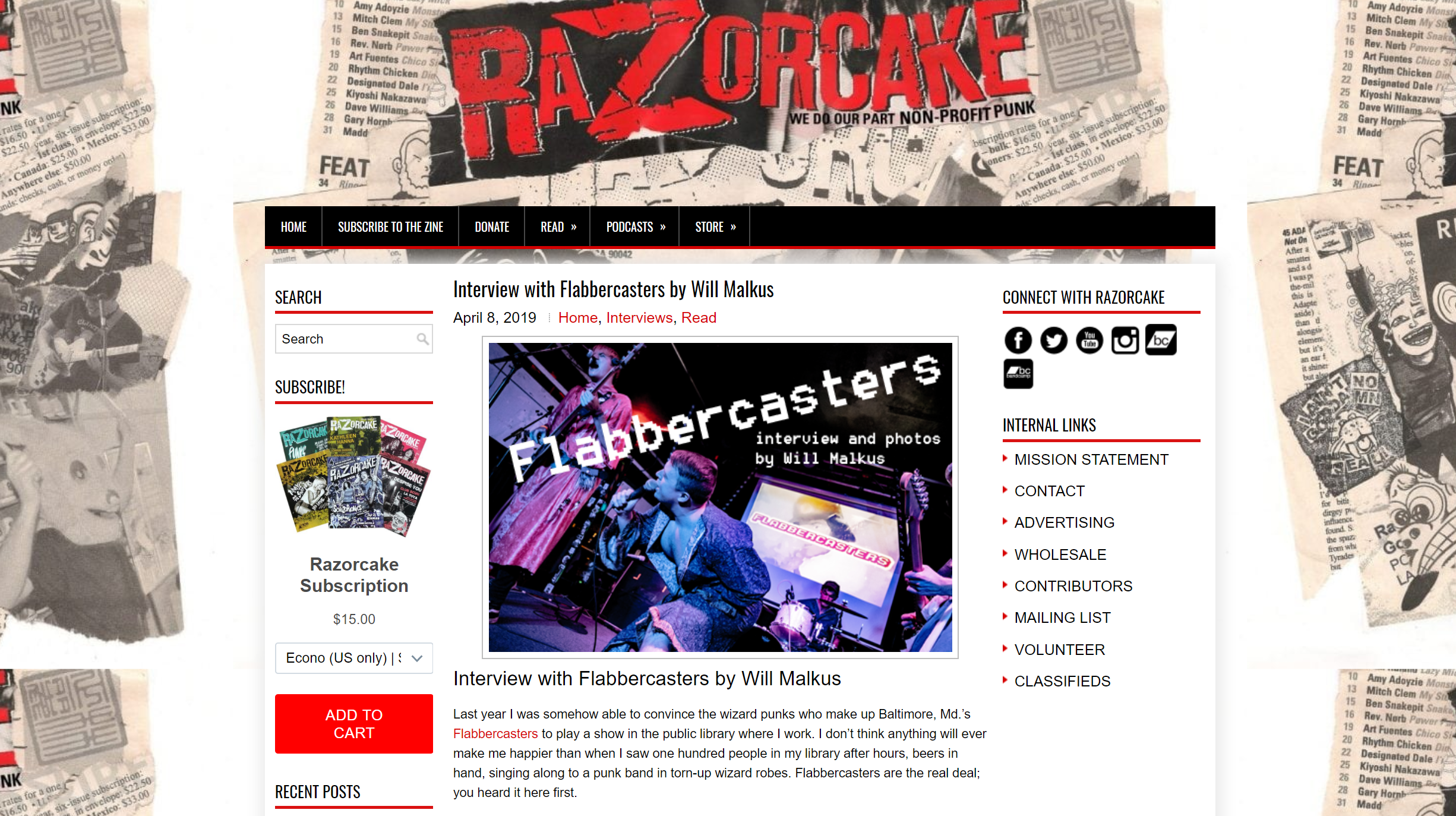 Interview with Flabbercasters - For Razorcake, 2019