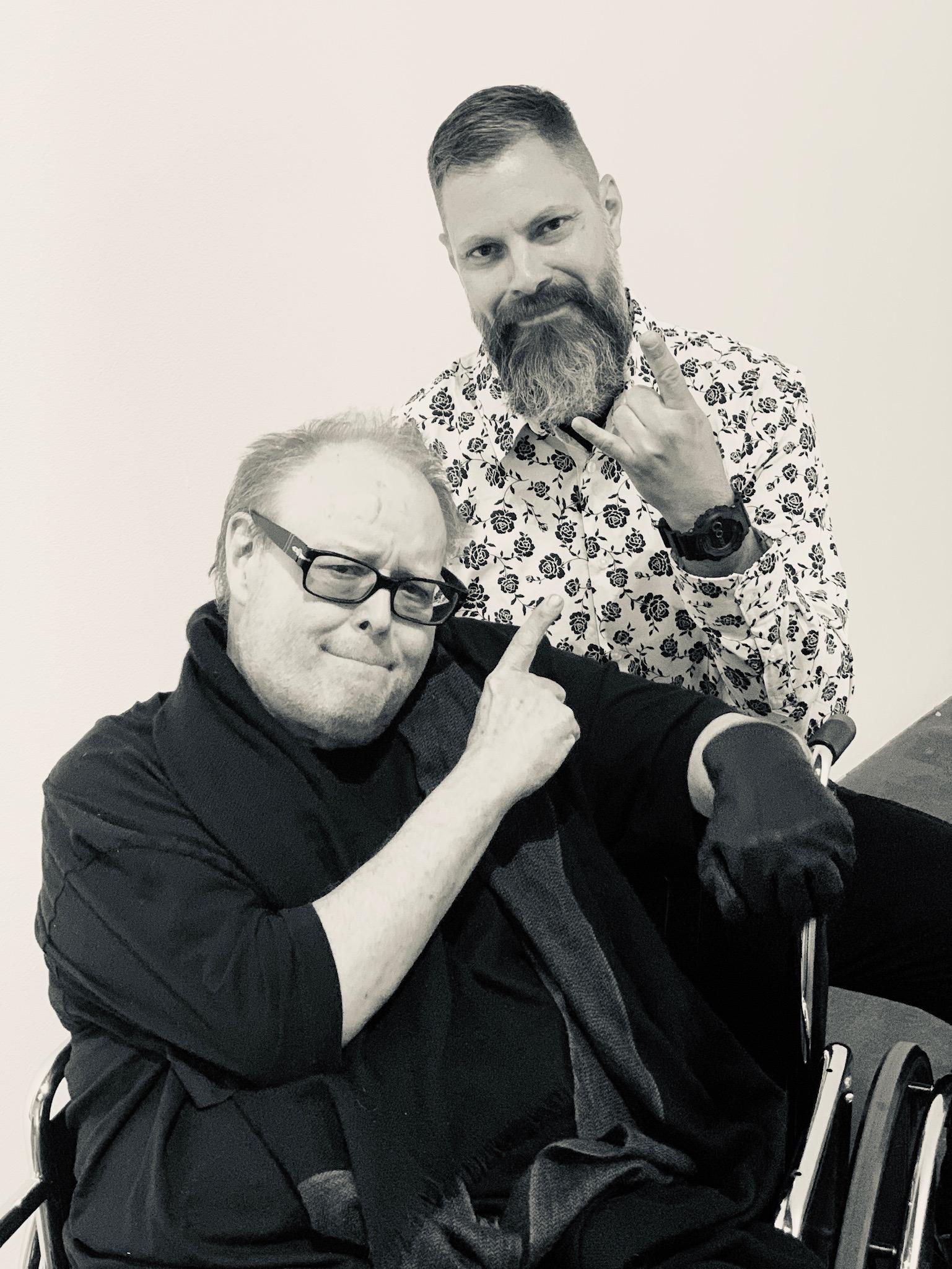 With Patrick, photo by Niku Kashef