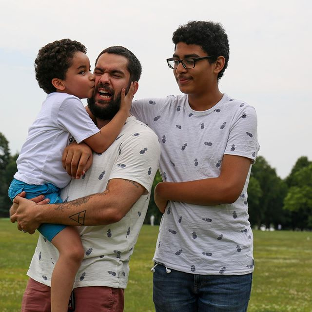 Whilst being attacked on public property, I am glad that I wake up every day with the most precious, amazing, annoying & stinky kids. I love them with all my heart & want to thank my wife for always dealing with our crazy antics. #HappyFathersDay