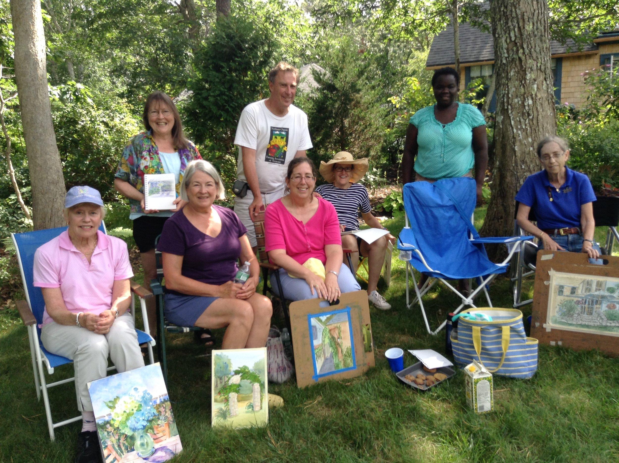 Painters at West Chop.