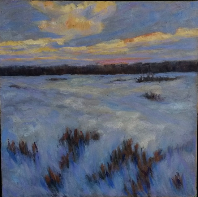 Eva Cincotta - Dusk, Winter Field