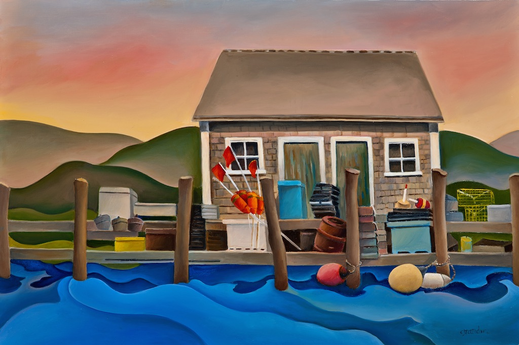 Anne Grandin_Fishing Shack_24_X30_Oil on linen..jpg