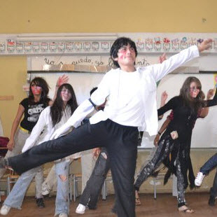 "Fabian Arancibia Vidal performing ""Thriller"" as the lead dancer. (Photo courtesy of Elizabeth Roberts)"