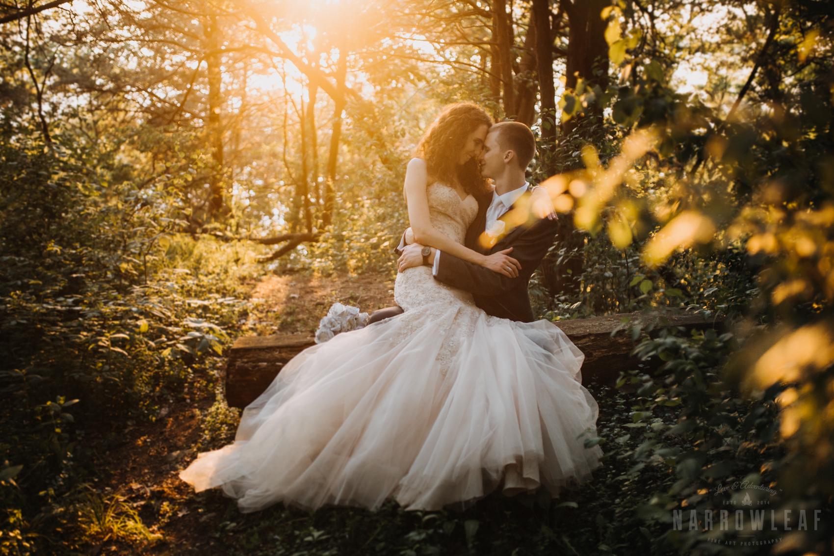 bride-mermaid-lace-wedding-gown-glitter-woods-sunset-303.jpg