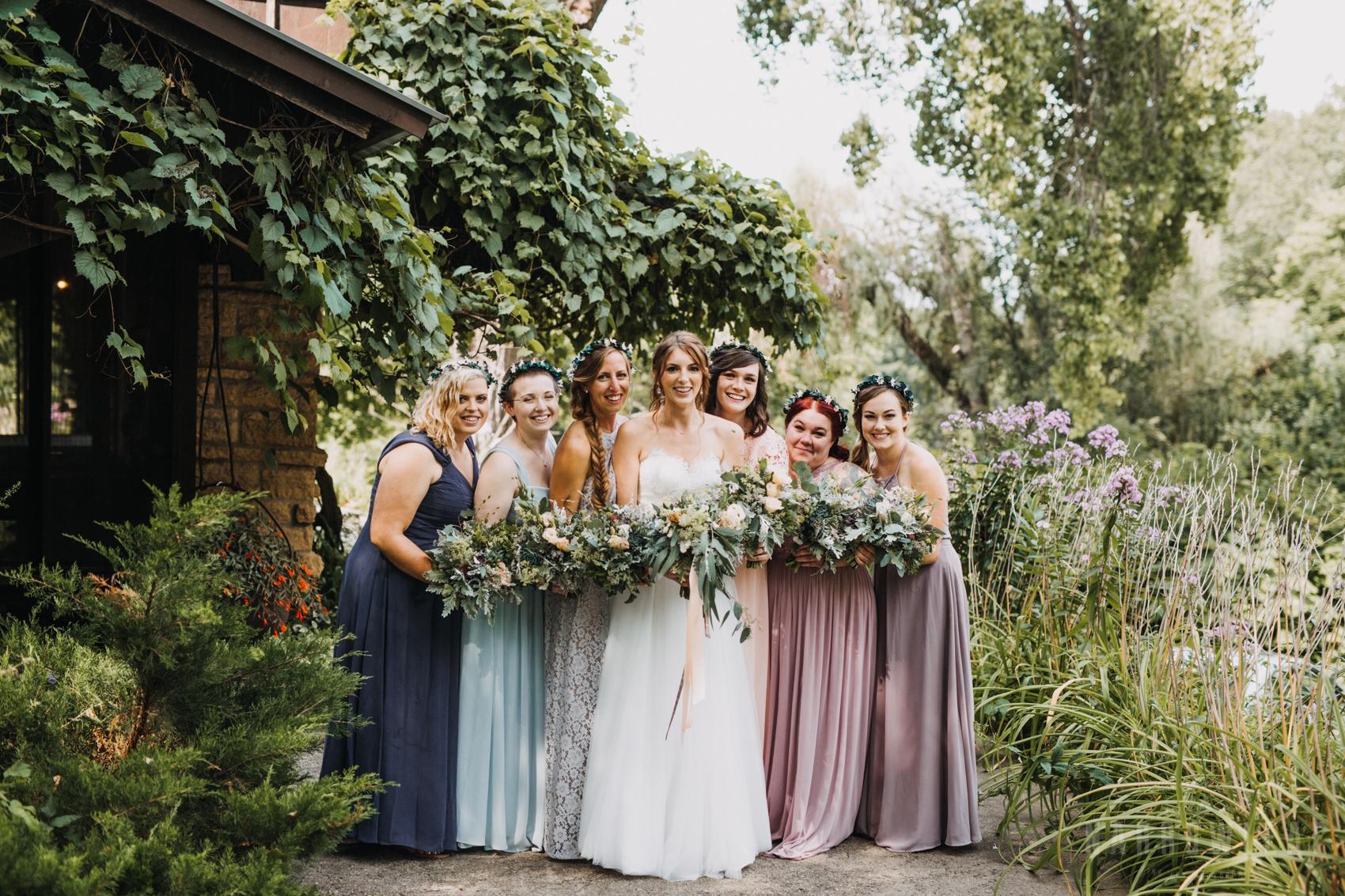 Dreamy garden wedding in wisconsin