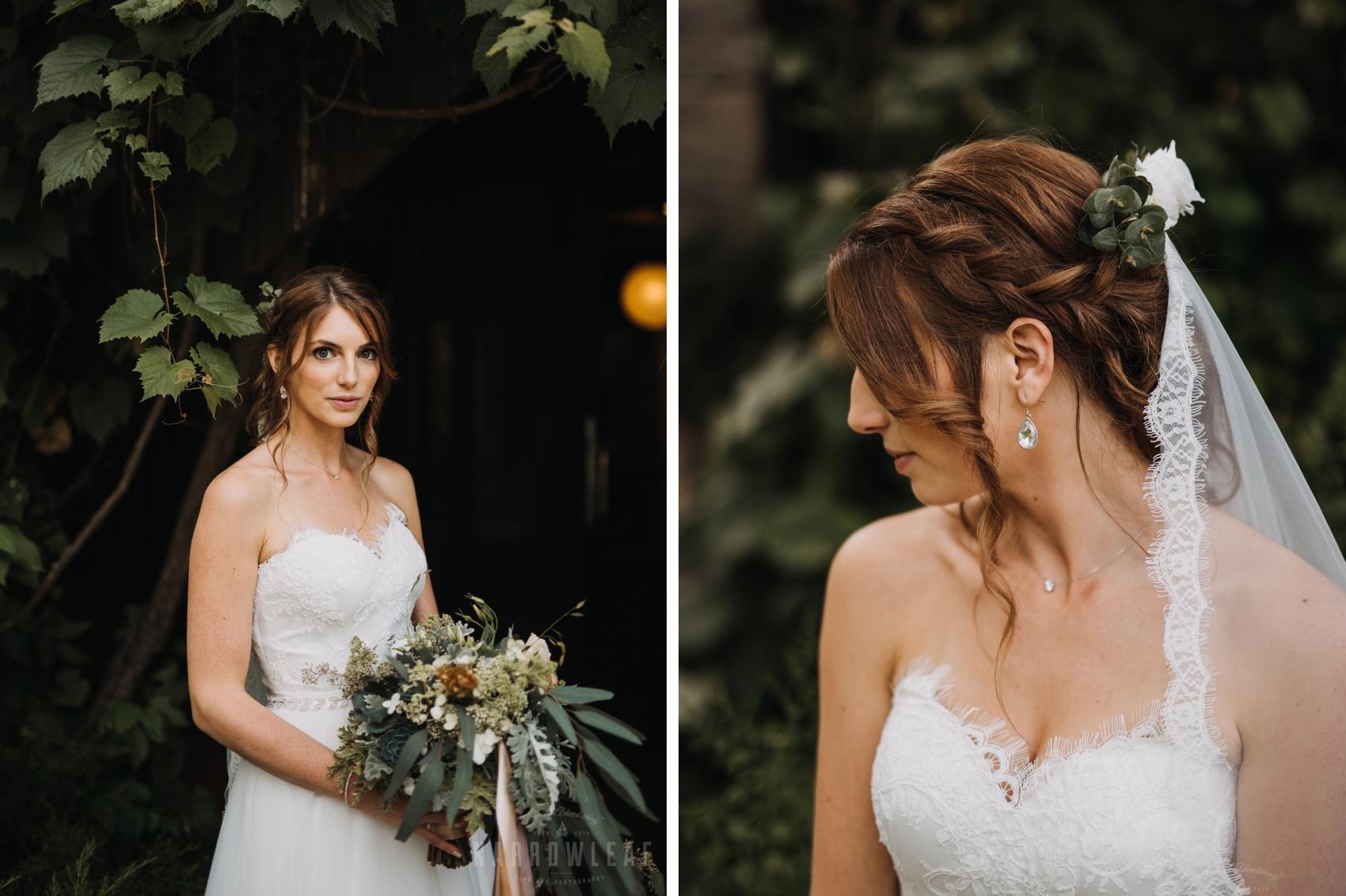 Earthy bride photos
