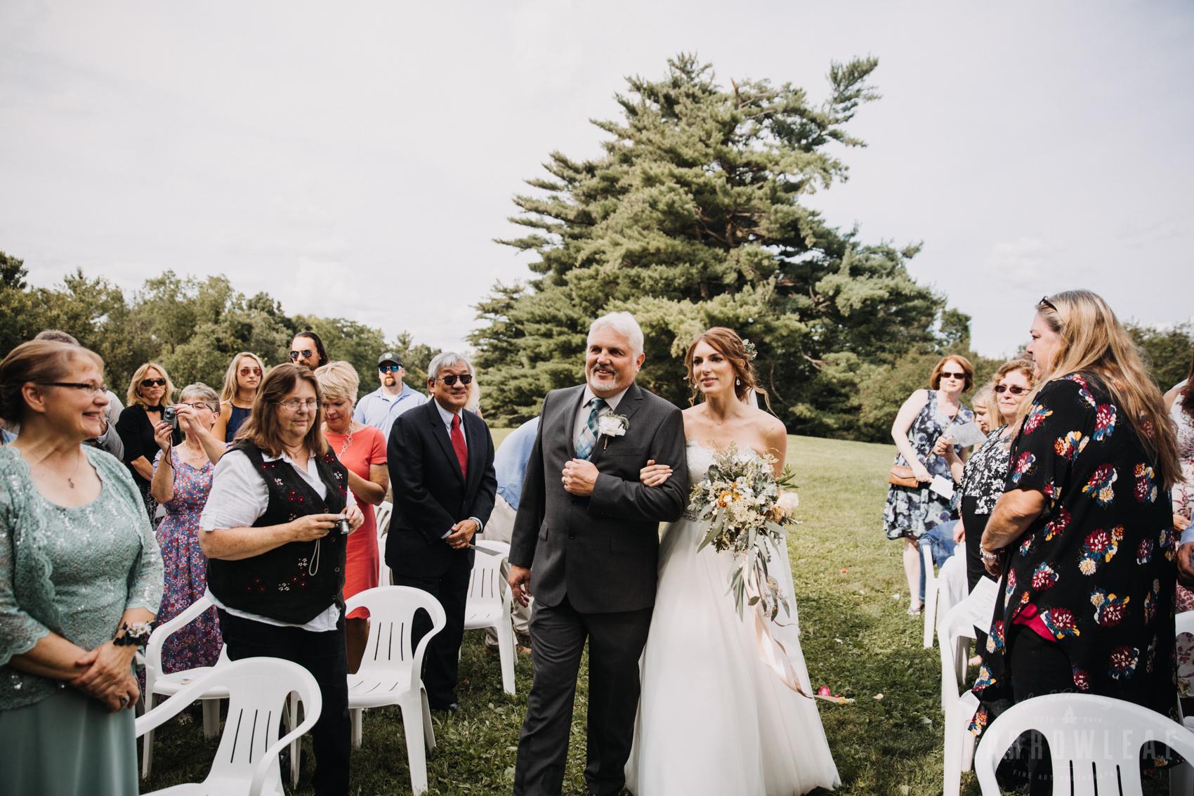 wedding ceremony outdoors in wisconsin