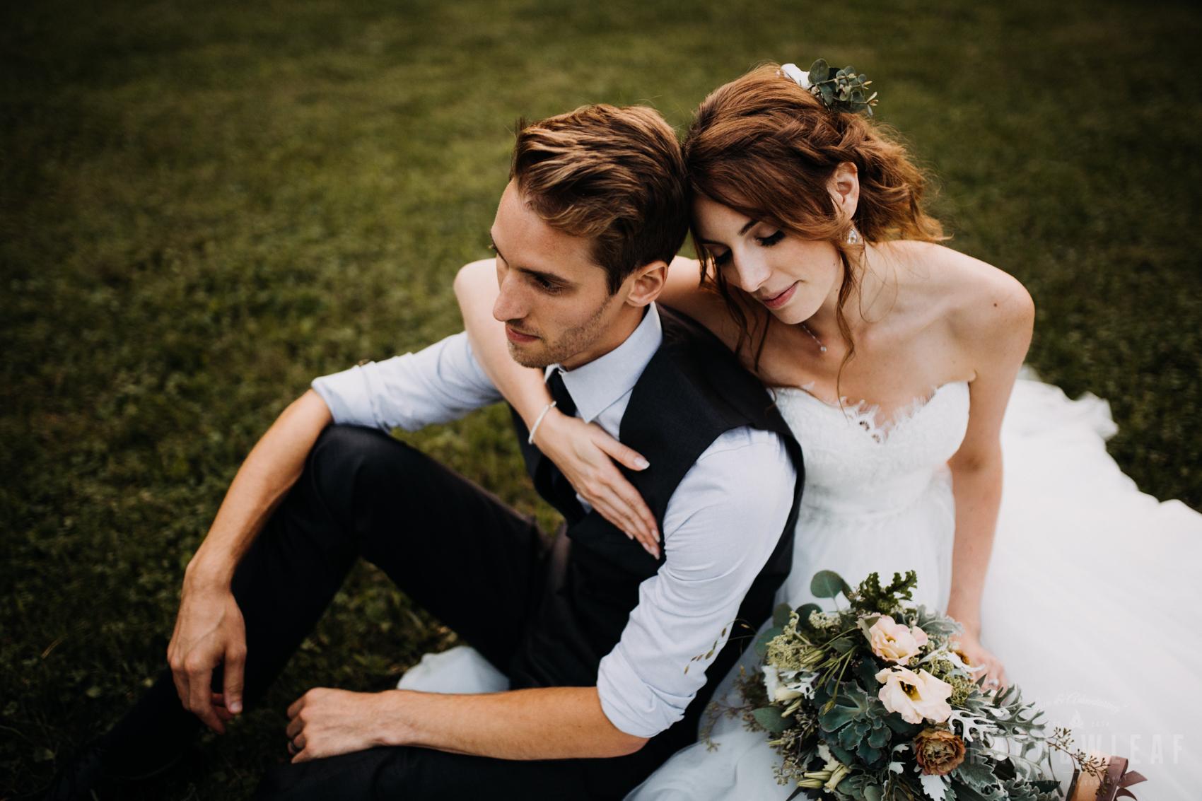 Adventurous bridal couple
