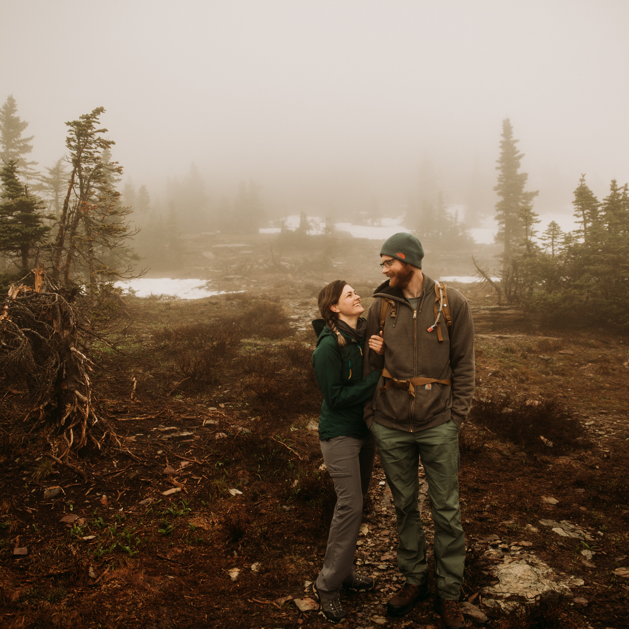 Glacier national park Kalispell, Montana elopement photographer