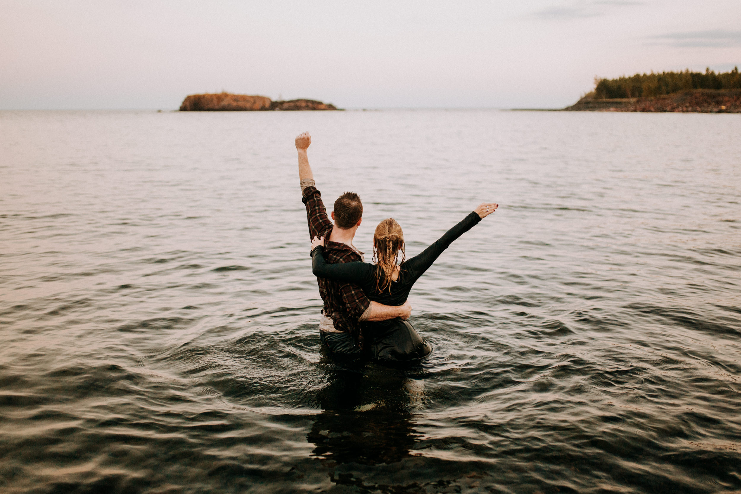 Engagement photo ideas for adventurous couples in Minnesota