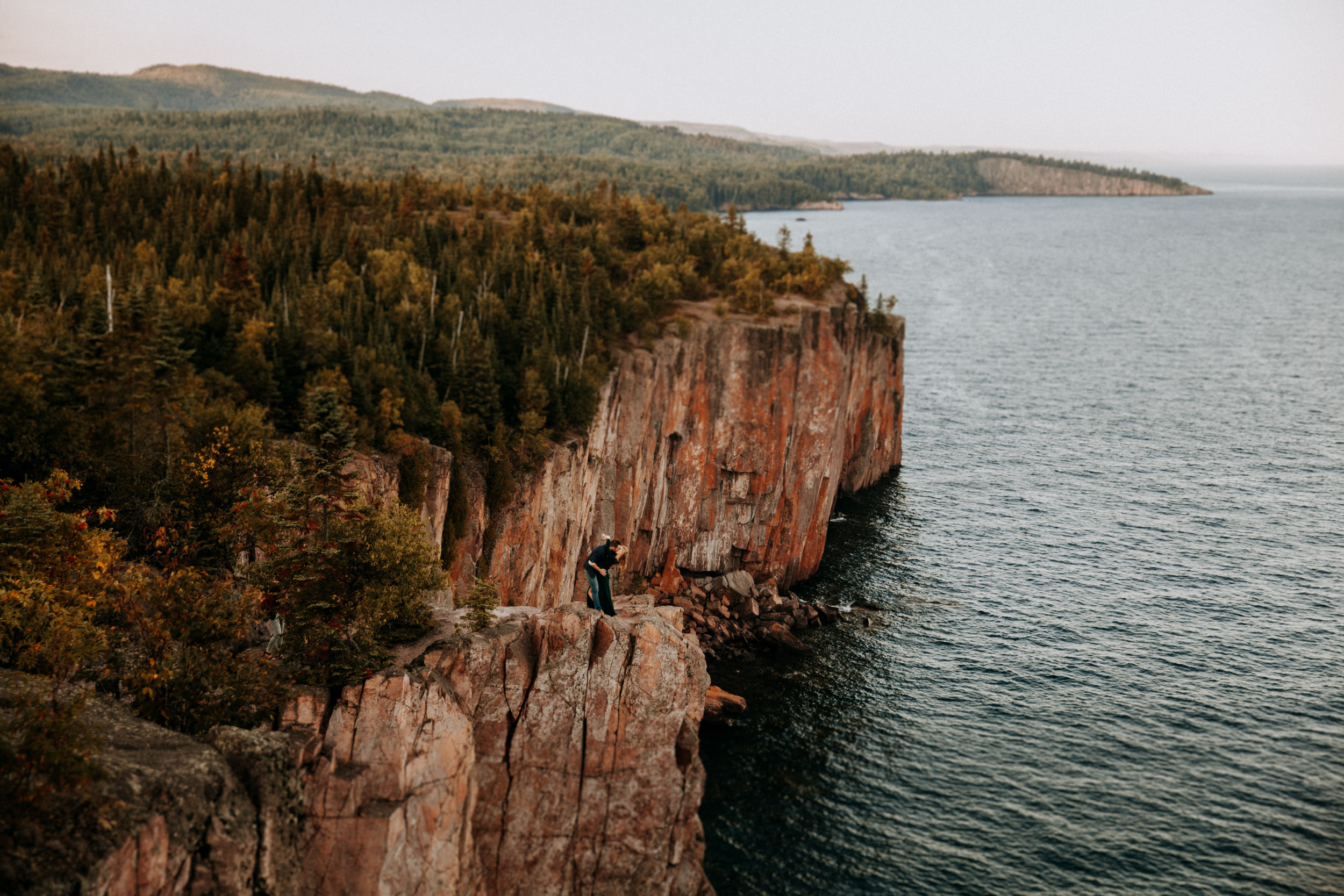 Epic elopement at Palisade Head in Minnesota