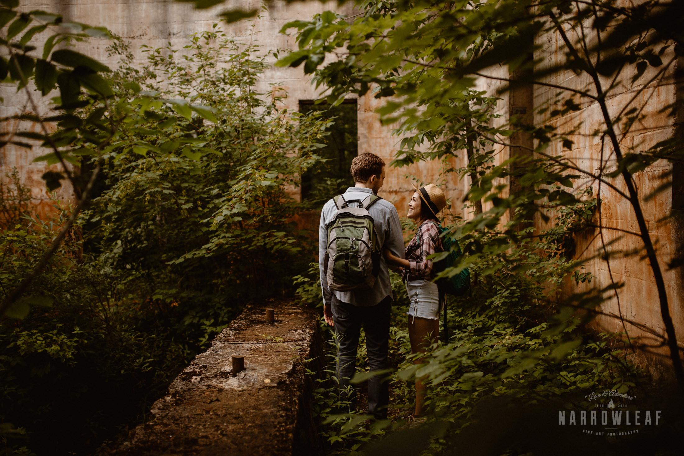 Adventurous engagement photography in Northern Minnesota