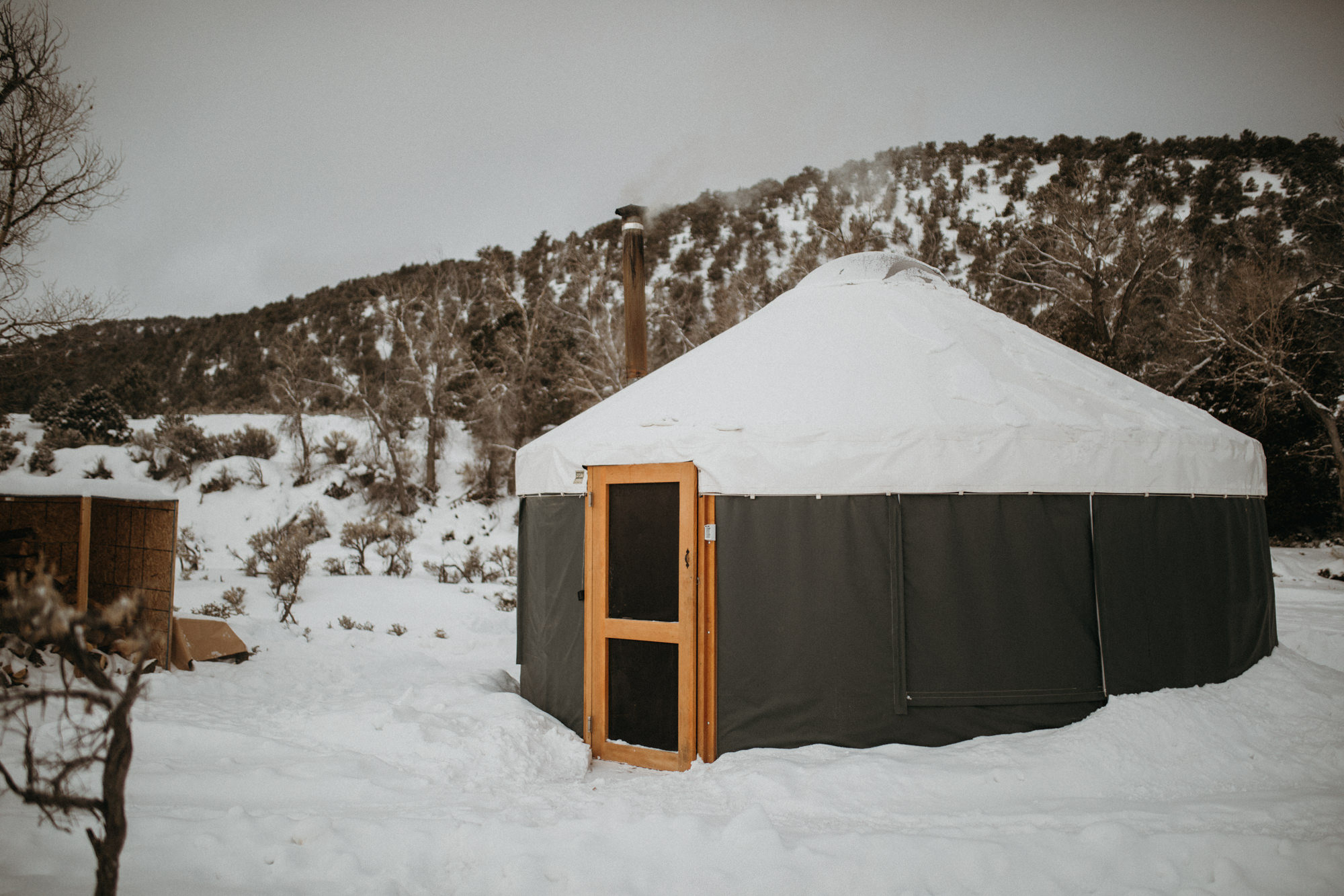 Consider booking somewhere unique & really get amongst it, like a badass Yurt in Utah!