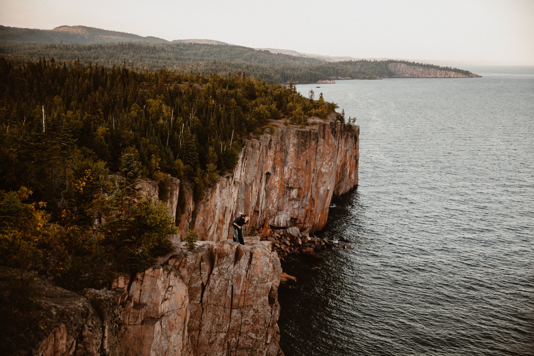 Epic North Shore Adventure Elopement on Palisade Head, MN