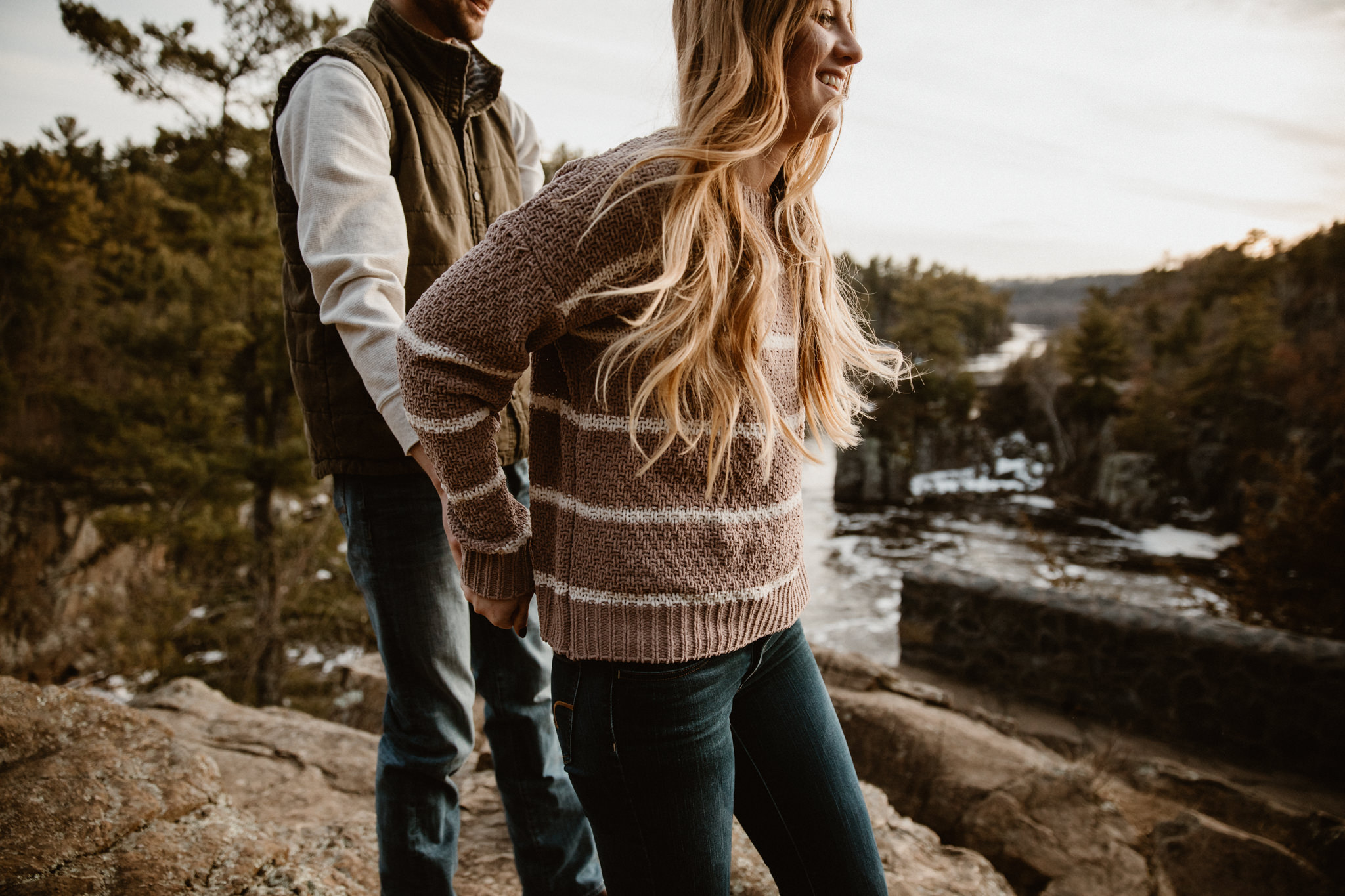 Adventurous engagement photographer in Minnesota