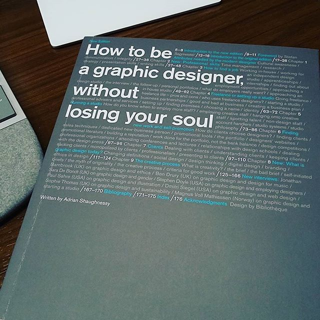 When one of the senior designers say that this is required reading #readingrobbin #design