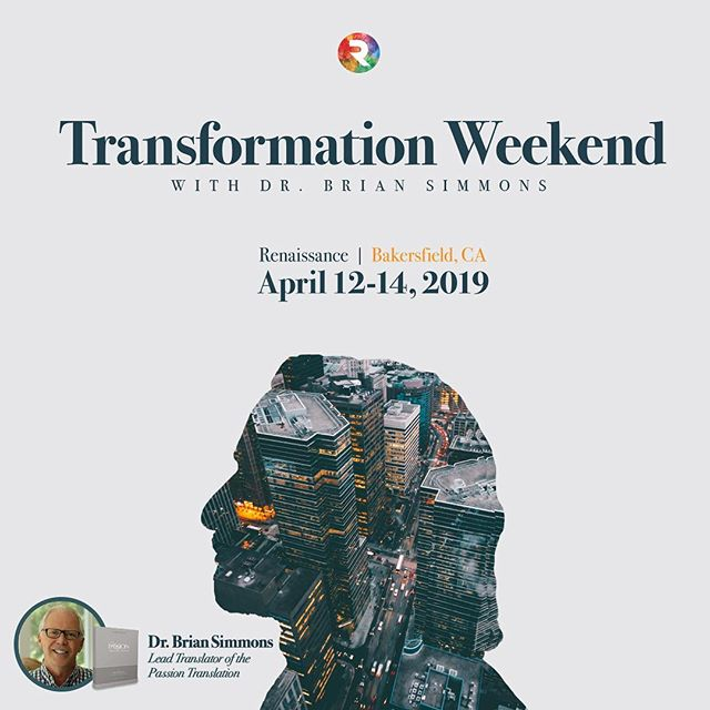 😮 Have you heard? . @drbriansimmons is coming to #bakersfield #california for #TransformationWeekend April 12-14, 2019! 📖 🔥 Dr. Brian Simmons is the lead translator of the @passiontranslation  Bible and we're excited to have him bring a powerful word for city transformation to Bakersfied, CA! Early registration ends March 22, so register today (link in bio)! ⬇️ transformationwknd.eventbrite.com 🙌 #passiontranslation #revival #reformation #bakersfieldcalifornia #citytransformation