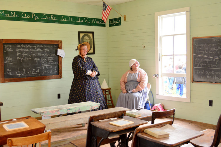 The Plunk School House at the Heritage Homestead During Heritage Days Event