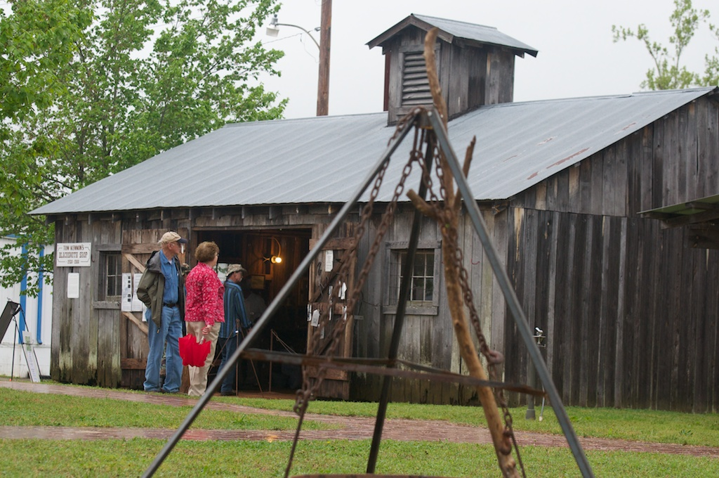 The Tom Kennon Blacksmith Shop During Heritage Days Festival