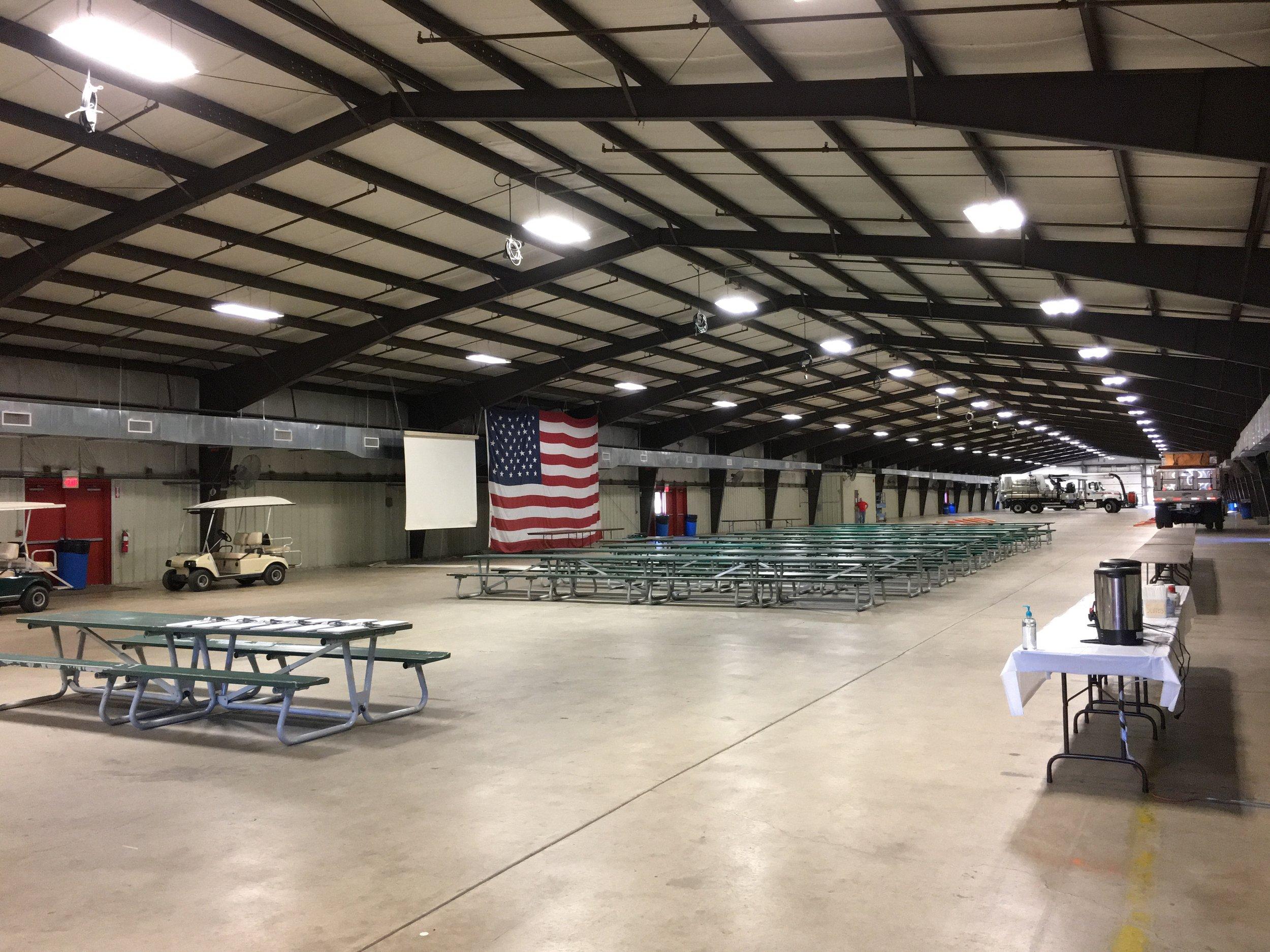 Main Exhibition Hall - Snow Rodeo (Oct. 3-5, 2017) - set up for indoor activities.JPG