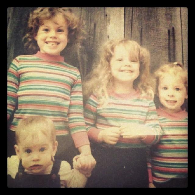 Green Sisters as little tykes