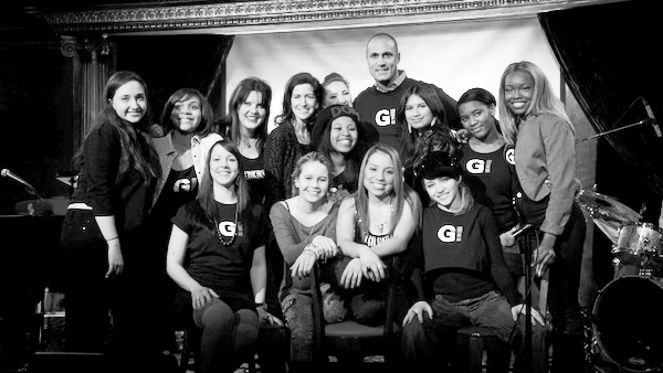 Girl Be Heard Company members with Nigel Barker (January, 2013)