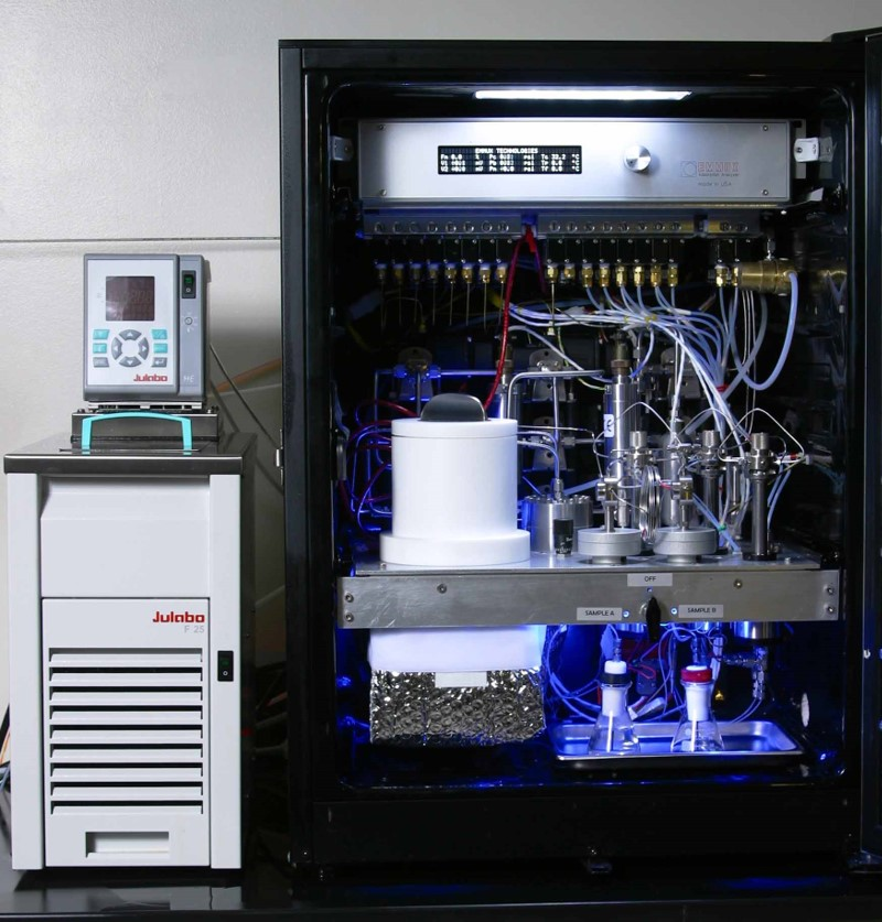 Multicomponent Adsorption Analyzer - Custom-built unit for measuring adsorption equilibrium of complex mixtures.