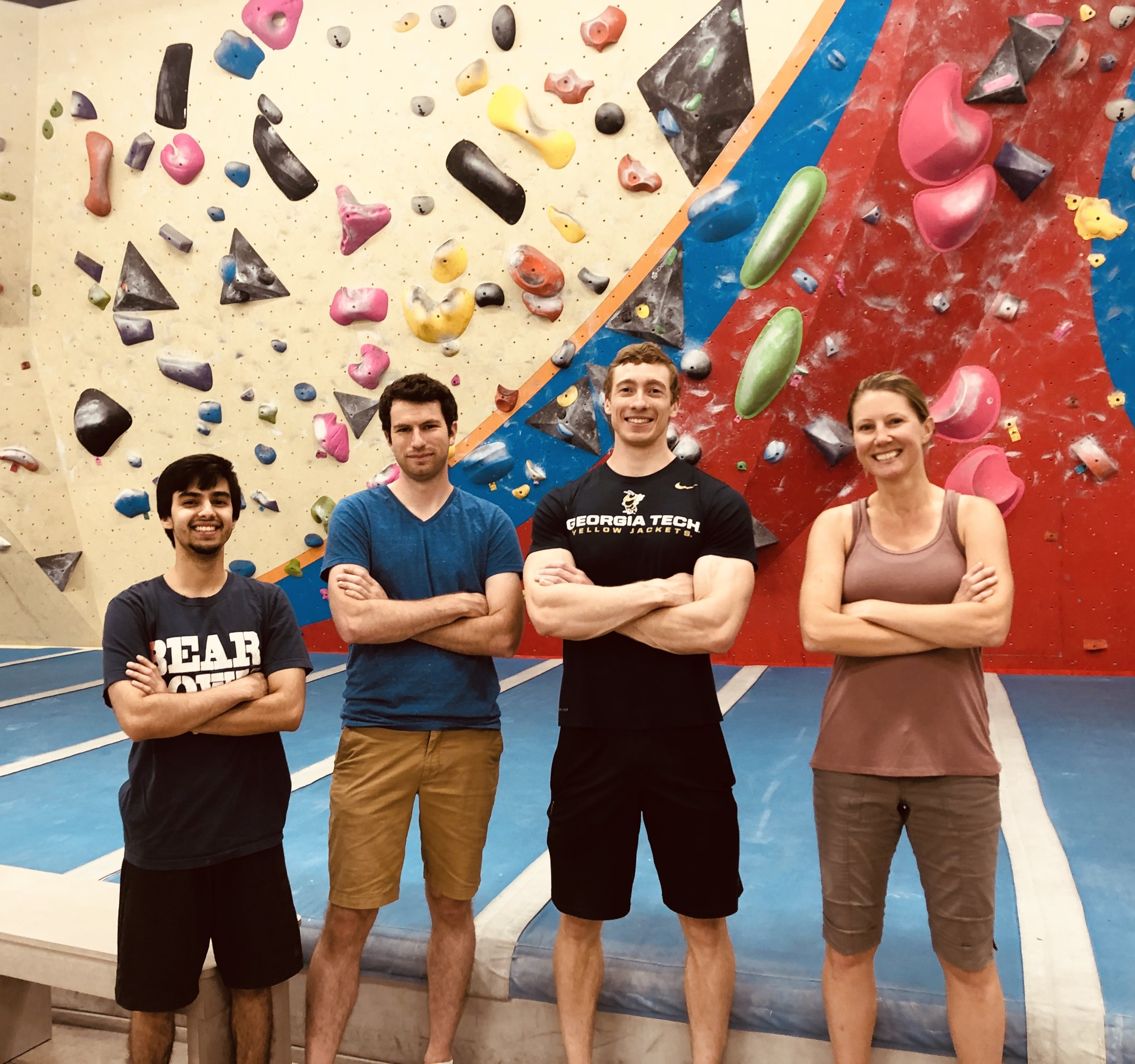 Some of the group went bouldering! 7/13/2019
