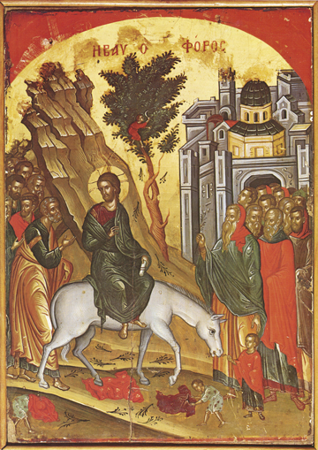 Icon of the Entry into Jerusalem (Theophanes)