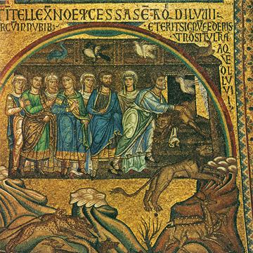 Icon of Noah's Ark (Mosaic) (Venice-San Marco, 13th Century)